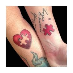 22 Couples' Tattoos That Are Actually Cute (€18) ❤ liked on Polyvore featuring accessories
