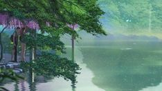 the garden of words lake The Garden Of Words, Words Wallpaper, Anime Reviews, Background Pictures, Anime Shows, Amazing Gardens, All About Time, Northern Lights, Aquarium