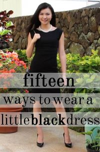 Skirt, top, forwards, backwards--a little black dress has endless possibilities! #LBD