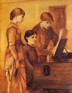 Portrait Group Of The Artists Family - Edward Burne-Jones