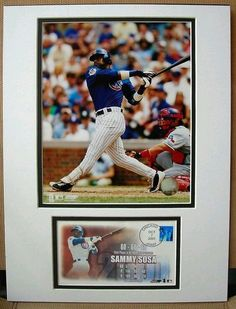 US Postal Art MLB Baseball Cache Sammy Sosa Chicago Cubs 60-60-60 Club…