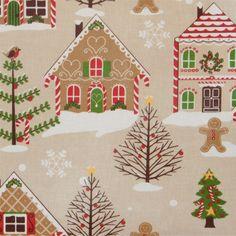 Christmas Gingerbread oilcloth tablecloth