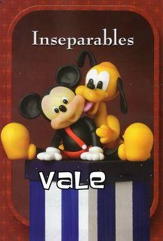 Mickey e Pluto de biscuit