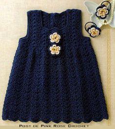Crochet Patterns Jumper Pink Rose crochet: Crochet Jumper Dress for Girls Baby Knitting Patterns, Crochet Patterns, Vestido Jumper, Jumper Dress, Pink Rose Croche, Little Girl Dresses, Girls Dresses, Baby Dresses, Pregnancy Fashion Winter