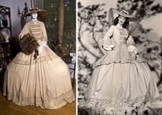 Loretta Young, The Men in Her Life, 1941. Design: Charles Le Maire. Maize gown, chenille trio on hoop skirt, picture hat, chiffon streamers, mink muff. Private Collection.