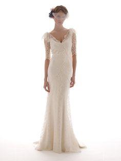 Lace, Long Sleeved Wedding Dress by Elizabeth Fillmore - SANDRINE