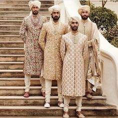 Latest Designer Wedding Sherwani Patterns for Indian Groom - LooksGud. Sherwani For Men Wedding, Wedding Dresses Men Indian, Sherwani Groom, Wedding Dress Men, Wedding Men, Wedding Attire, Summer Wedding, Menswear Wedding, Wedding Photoshoot