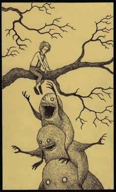 John kenn - Illustration - Monster Иллюстрации Монстры, Иллюстрации Арт, Рисунок Монстров, Искусство Ужасов, Psychedelic Art, Искусство Зла, Страшные Рисунки, Жуткий, Темные Рисунки