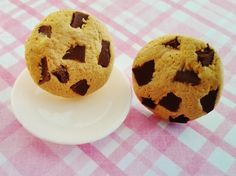 Polymer clay Chocolate chip cookie earrings...!!