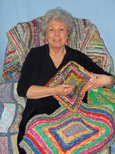 Locker Hooking Kits & Supplies - Admit One Fabrics Locker Hooking, Rug Hooking, Braided Rag Rugs, Rag Rug Tutorial, Latch Hook Rugs, Felting Tutorials, Fabric Strips, Loom Weaving, Baby Knitting