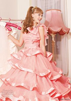 Just thought this was kind of adorable. :)  barbie bridal salmon pink wedding dress 2013 bb0107