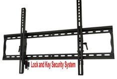 """A must have for high traffic areas where you want to protect your flat screen TV from being stolen. Our dual key locking vertical arm wall mount fits 37"""" - 63"""" flat panels. When you insert the key the plunger on lower side of the vertical arm engages against the bottom of the wall plate preventing lift off. All mounting hardware is included. $149.99 with Free Shipping Product Code: CRIM-TILTING3763-DOUBLELOCK"""