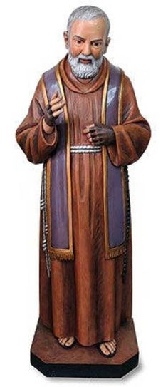 "Stunning 48"" ST. PADRE PIO LIFESIZE STATUE Indoor Outdoor Church Quality ~ NEW!"