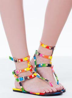 Rainbow Connection Studded Sandals