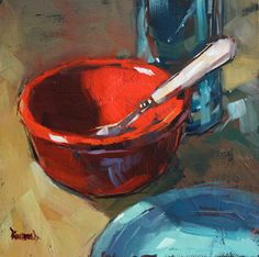 Red Bowl by Cathleen Rehfeld