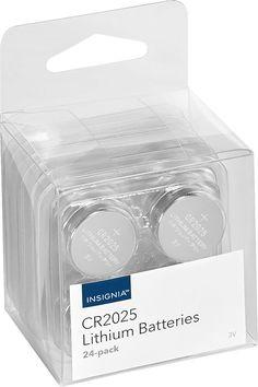 Insignia™ - CR2025 Batteries (24-Pack) - White/Blue, NS-CB242025