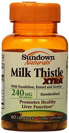 Sundown  Milk Thistle XTRA Capsules - 60ct Bottles (Pack of 2) * Be sure to check out this helpful article.