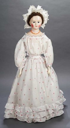 The Legendary Spielzeug Museum of Davos: 110 Mid-19th Century Paper-Mache Lady Doll,Possibly for the French Market