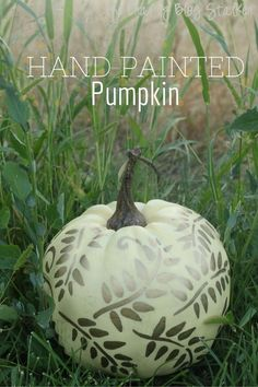 Design and create a hand painted pumpkin. A beautiful home decor piece to put on a mantle or add to your fall centerpiece. Video and step by step picture tutorials available.