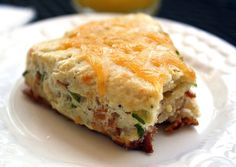 Easy Bacon Cheddar Scones | The Comfort of Cooking - Make breakfast ahead of time for the week?