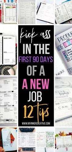 Find A Job, Get The Job, Job Interview Tips, Job Interviews, Interview Training, First Day New Job, Bullet Journal Work, Bullet Journal Job Search, 90 Day Plan