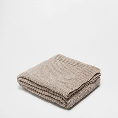 NATURAL-COLOURED CHENILLE BLANKET - Blankets - Decoration | Zara Home Hong Kong