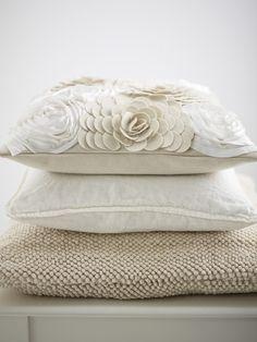creamy white pillows