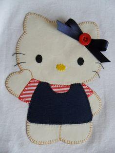 la sastrecilla valiente : camiseta navy kitty