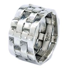 Fashion Weave 925 Sterling Silver Handmade Shiny Ring Size 6 7 8 9 [ISR0006] #BKGjewelry #Band