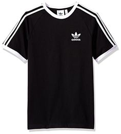 adidas Men's Originals 3 Stripes Tee, Black, M Camisa Adidas, Adidas Shirt, Sporty Outfits, Trendy Outfits, Cool Outfits, Tomboy Fashion, Fashion Outfits, Fashion 2018, Fashion Fall