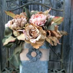 Romantic Rustic Wreath Rustic Wreath  by CarolaFlowerDesigns