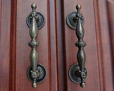Dresser Pulls Drawer Pull Handles Antique Bronze / Cabinet Handles Pulls Knobs Door Handle Metal / Cupboard Vintage Furniture Hardware