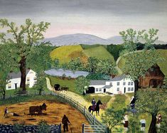 Spring in the Valley - Grandma Moses