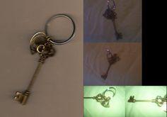 AntiqueStyle Key Keychain w/ Heart Charm  Use by ArtOfGaneneK, $7.00