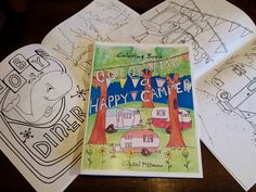 Glamper Travel Trailer Coloring Book Color Me A Happy by PittStar, $6.00