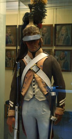 French Army Museum - Paris: French Dragon uniform as worn in Egypt.