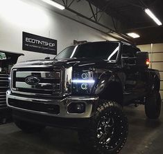 Lifted Ford superduty 4x4 truck