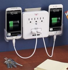 Cell Phone Charging Station Mobile Device Tablet Charger USB Outlet Multiplier…