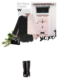 """""""''There's no lie in her fire''"""" by crazydita ❤ liked on Polyvore featuring Ted Baker, Elizabeth and James, Burberry and bellsleevedress"""