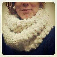 Plushy cowl made from LL's Knotty n Nice Yarn