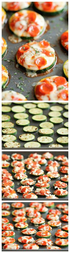 Healthy Snacks Zucchini Pizza Bites - Healthy, nutritious pizza bites that come together in just 20 minutes with only 5 ingredients! - Healthy, nutritious pizza bites that come together in just 15 minutes with only 5 ingredients! Zucchini Pizza Happen, Zucchini Pizza Bites, Zucchini Appetizers, Zucchini Cake, Cheese Appetizers, Appetizer Recipes, Snack Recipes, Cooking Recipes, Party Appetizers
