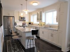 This open concept kitchen is great for entertaining! With plenty of countertop space for cooking, prepping and eating! Transitional Kitchen, Transitional Style, Open Concept Kitchen, Kitchen Styling, Countertops, Prepping, Entertaining, Space, Medium