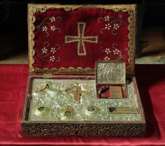 Gifts of the Magi and a fragment of the True Cross at the Holy Monastery of Saint Paul on Mount Athos, Greece