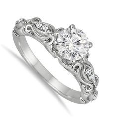 Perfect Half Carat Antique Round Diamond Engagement Ring