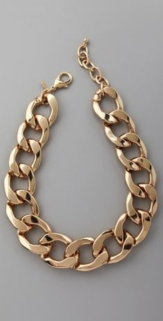 KENNETH JANE LANE - POLISHED LOBSTER CLAW NECKLACE
