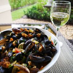 Steamed Mussels with Chorizo Sausage