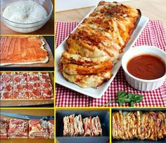 In our opinion, pizza should be its own food group. If you're a pizza lover too, make 4 Ingredient Pizza Pull-Apart Bread as soon as possible. Pizza dough, pizza sauce, cheese and pepperoni are all you need to make this pull-apart pizza bread recipe. I Love Food, Good Food, Yummy Food, Tasty, Football Snacks, Football Recipes, Pull Apart Bread, Appetizer Recipes, Appetizers