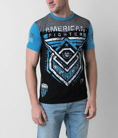 American Fighter Kendrick T-Shirt - Men's T-Shirts in Black Abyss Long Sleeve And Shorts, Short Sleeve Button Up, American Fighter Shirts, Fight Wear, Man Shop, Casual, Mens Tops, T Shirt, How To Wear