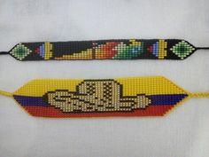 Bead Loom Bracelets, Bead Loom Patterns, Loom Beading, Beads, Jewelry, Knot Bracelets, Beaded Bracelets, Bracelets, Sombreros
