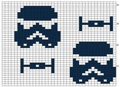 Star Wars Crochet, Crochet Stars, Crochet Round, Graph Crochet, Crochet Hooks, Knitting Charts, Knitting Yarn, Knitting Ideas, Single Crochet Stitch